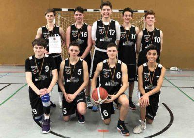 Basketball Siegermannschaft des Gymnasiums Oppenheim