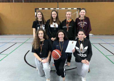 Mädchenmannschaft Basketball Gymnasium Oppenheim