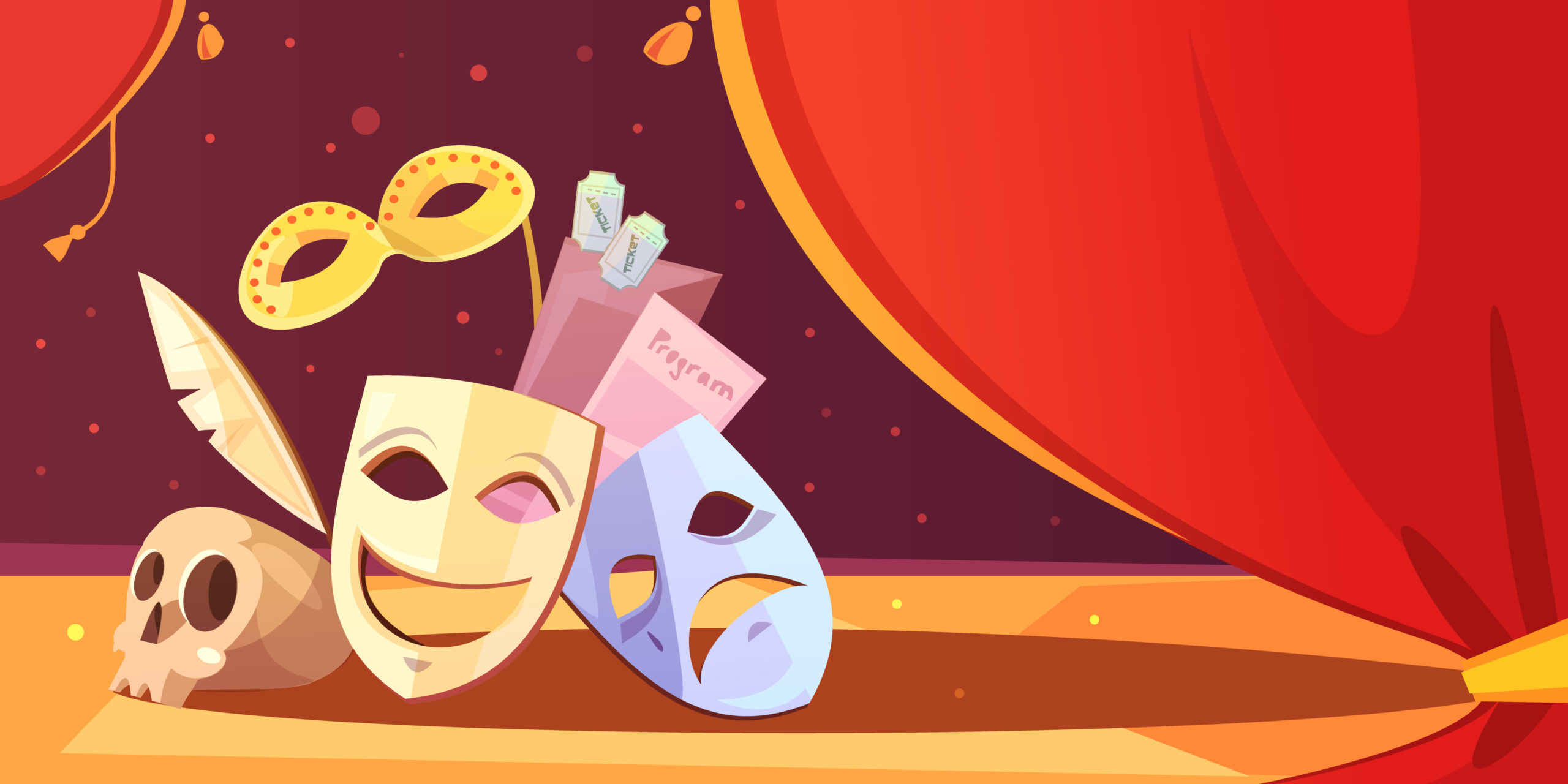 Bühne und Masken