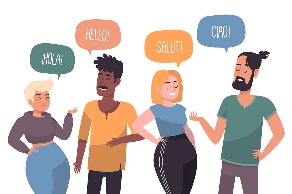 Begrüßung in verschiedenen Sprachen